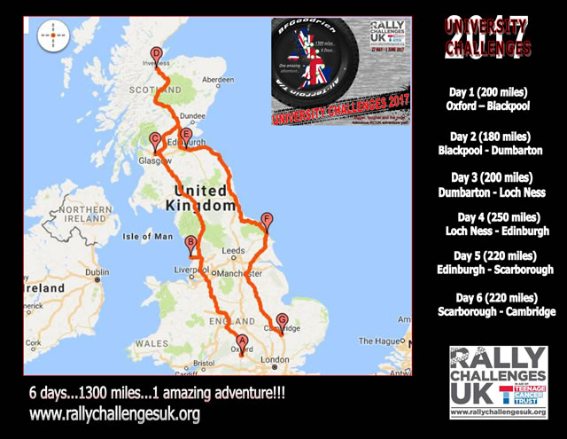 University Challenges 2017 route